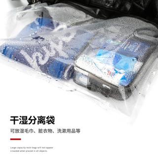 轻骑者 旅行包男手提大容量运动包健身包男女干湿分离大容量短途出差旅游行李包袋 0122黑色
