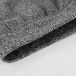 浪莎秋衣秋裤男薄款保暖内衣套装男士棉毛衫 黑 175/XL