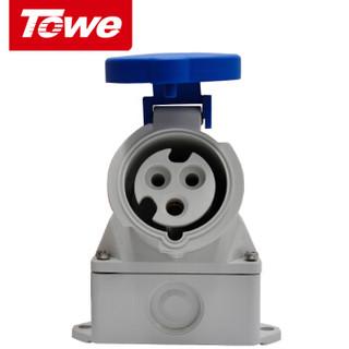 同为(TOWE)16A工业连接器明装插座/工业插头插座3芯2P+E