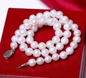 源生珠宝 淡水珍珠项链 8-9mm 长40cm