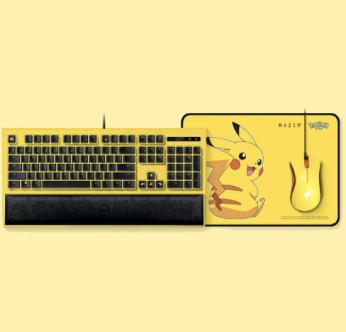 21日0点、双十一预售:RAZER 雷蛇 宝可梦皮卡丘限定款 键鼠套装 鼠标 鼠标垫 键盘