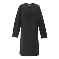 女士羊毛针织连衣裙 深灰色