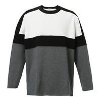 PORTS1961男士黑白针织长袖圆领套头衫 国际通用码