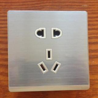 铁狮墙壁开关 五孔插座 5孔电源面板 暗装五眼二三插86型