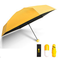 如初哈妮  超轻胶囊太阳伞 防紫外 线遮阳雨伞 *3件