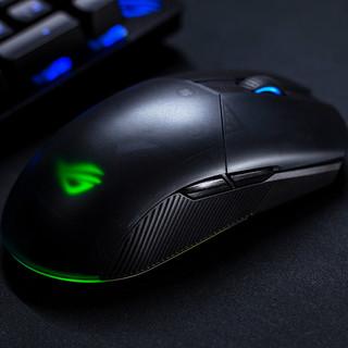 ROG 玩家国度 烈刃2 2.4G蓝牙 多模无线鼠标 16000DPI RGB 黑色