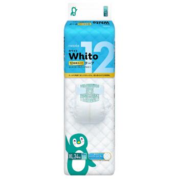 nepia 妮飘 whito系列 通用纸尿裤 XL34片