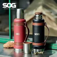美国索格SOG大容量304不锈钢保温杯水壶1.2L保温保冷户外便携杯子
