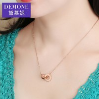 DEMONE 黛慕妮 GB0581 女士环环相扣钻石项链