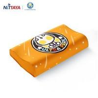 妮泰雅(Nittaya)儿童乳胶枕头泰国进口天然护颈枕枕芯橡胶枕6-12岁 奥特曼橘色高枕 *2件