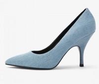 CHARLES&KEITH CK1-60580136-LIGHT BLUE 女士尖头高跟鞋