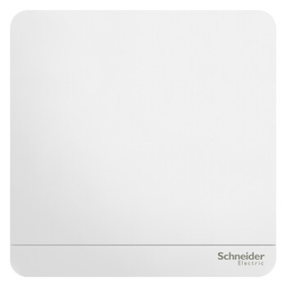 施耐德开关插座面板 绎尚系列镜瓷白色 家用86型 空白面板 开关电源插座  盖板 盲板