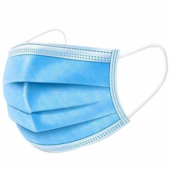 绚康 CSN001 一次性三层防护口罩 蓝色 50只/盒