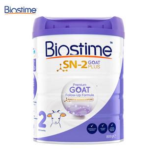 合生元(BIOSTIME)婴幼儿配方羊奶粉2段(6-12月龄)800g/罐 *2件