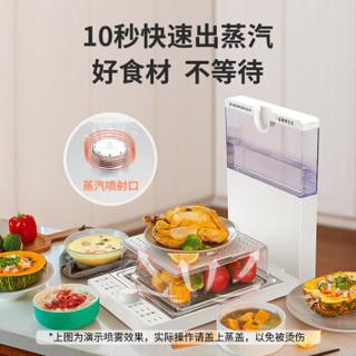 臻米折叠电蒸锅蒸汽箱笼多功能家用料理机透明大容量号小23多层Z1 象牙白