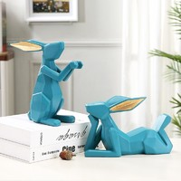 Hoatai Ceramic 华达泰陶瓷 简约兔子红酒架套装(湖蓝色)