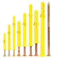 小黄鱼塑料膨胀螺丝加长膨胀管6M8M10胀栓锚栓胀钉涨塞美固钉 8*100(50套每袋)