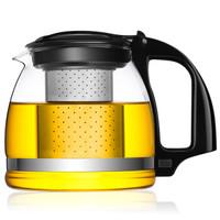 唯成 700ml热卖加厚耐热玻璃不锈钢过滤茶壶 泡花草玻璃茶具 紫兰泡茶壶 ZL700 *13件