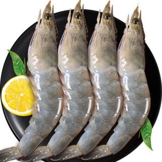 渔公码头 厄瓜多尔南美白虾 可剥虾仁 鲜活冷冻大海虾 2kg(净1.4kg)5070规格长11-14cm