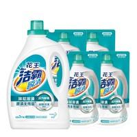 Attack 洁霸 瞬清系列 深层溶渍洗衣液组合装 3kg/瓶+1.5kg*4袋