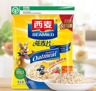 SEAMILD 西麦 即食燕麦片 1.48kg*2袋