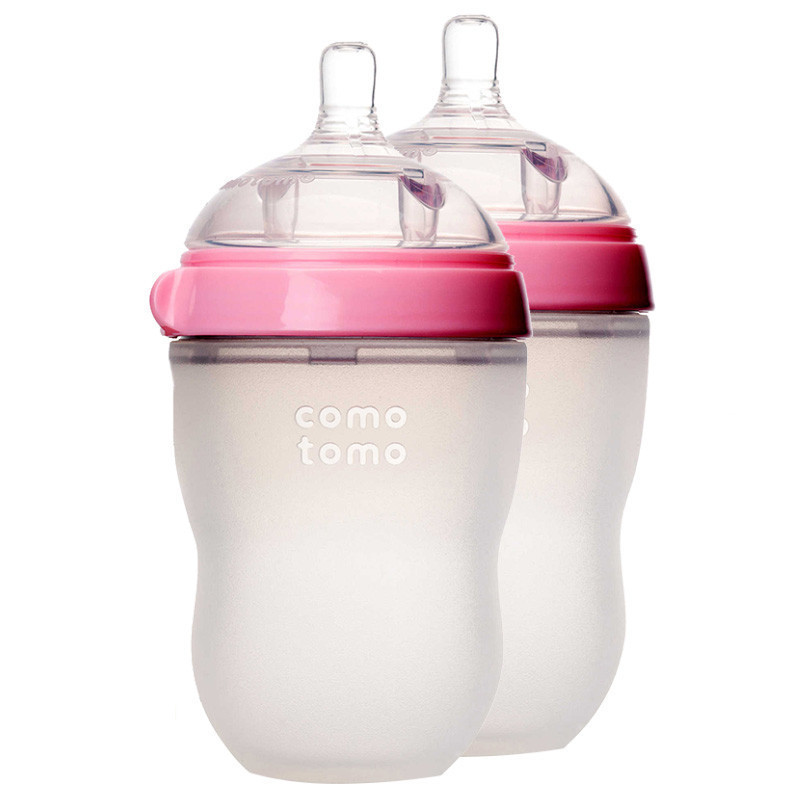 comotomo 可么多么 EN250TP 宽口径婴儿奶瓶 250ml*2(粉色瓶盖 M号奶嘴 )