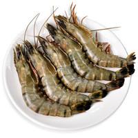 鲜聚汇 泰国黑虎虾 净重400g 单只15-16cm