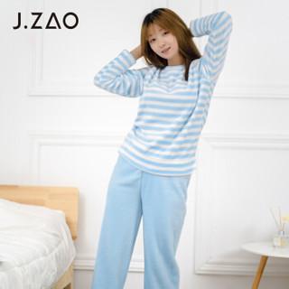 J.ZAO 女士珊瑚绒睡衣套装 梦幻蓝 M *4件