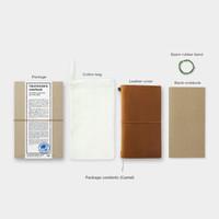 日本MIDORI TN TRAVELER'S notebook旅行者牛皮笔记本 标准型 护照型 本体 皮质笔记本 驼色 标准型