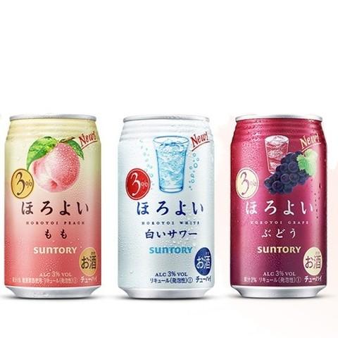 HOROYOI 和乐怡 日本进口三得利和乐怡HOROYOI鸡尾酒预调酒白桃3口味350mL*6果酒