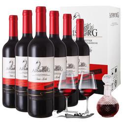 法国原瓶进口红酒 天鹅湖干红葡萄酒 整箱六支装