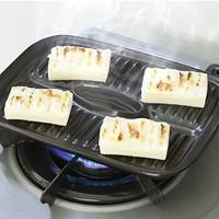 日本进口陶瓷烧烤盘子长方形 *4件