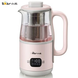小熊(Bear)迷你养生杯养生壶 办公室家用便携煮茶壶烧水壶小型花茶壶热牛奶YSH-C06B1带滤网0.6L