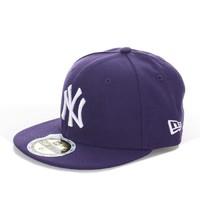 NEW ERA 纽亦华 59Fifty MLB 纽约洋基队 儿童平檐棒球帽 Purple 6 1/2