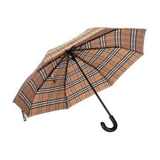 BURBERRY 巴宝莉/博柏利 男女通用款古典黄色黑色Vintage格纹聚酯纤维折叠伞雨伞 40752861