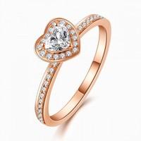 喜钻 Dream系列18K金共42分H色钻石戒指心形异形钻钻戒