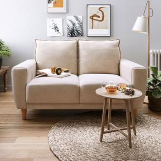 林氏木业 LS075SF6 简约布艺双位沙发