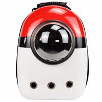 迪普尔 猫包宠物狗狗猫咪背包狗包外出便携旅行单双肩太空包舱透明书包箱袋用品 卡通红 *