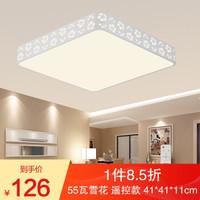 HD 吸顶灯LED卧室客厅灯现代简约雪花系列 带遥控无极调光调色温 55W无极调光