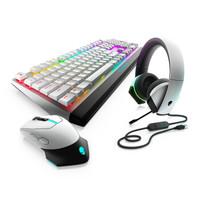 外星人 Alienware AW610M 无线RGB鼠标 +AW510K红轴RGB机械键盘+AW510H电竞耳机 白色游戏套装