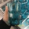 。超美INS宜家波克尔蓝色粉玻璃杯350毫升国内代购茶杯北欧情侣水