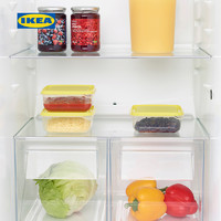 IKEA宜家PRUTA普塔食品盒家用保鲜盒微波炉加热食物储藏盒