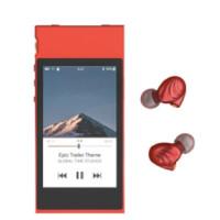 FiiO 飞傲 M7 音频播放器 红色 +F9 耳机 可换线 绕耳式 红色 套装