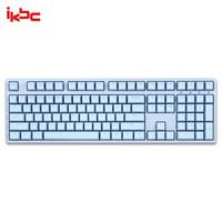 ikbc W210 机械键盘 2.4G无线 游戏键盘 108键 原厂cherry轴 樱桃轴 无线机械键盘 蓝色 红轴