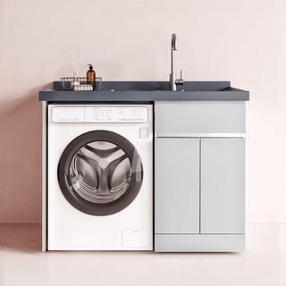 diiib 大白 星空 304不锈钢阳台洗衣机柜 1m