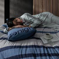 每晚深睡 全棉针织三件套 青春版 蓝色 1.2m