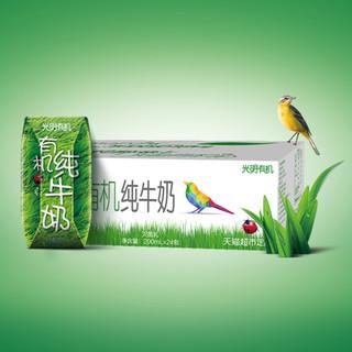 Bright 光明 天猫超市定制款 有机纯牛奶 200ml*24包