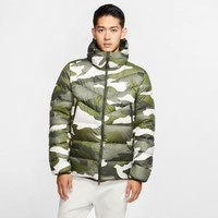 NIKE 耐克 Sportswear Down Fill Windrunner 男子印花连帽夹克