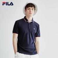 FILA 斐乐官方男子短袖POLO2020夏季新款针织短袖衫男POLO