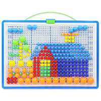 Zhiqixiong 稚气熊 296粒蘑菇钉玩具+收纳盒+插板
